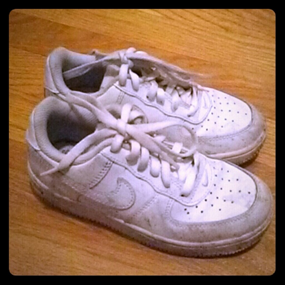 Air Force Ones (All White) for kids